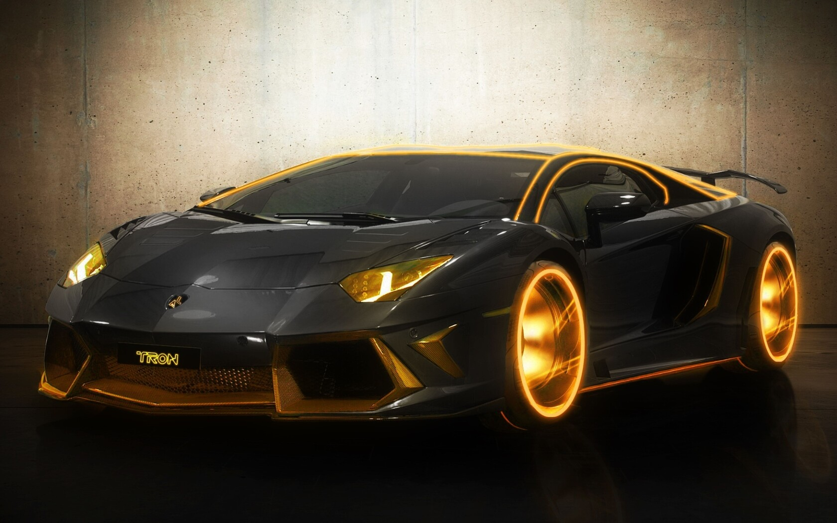 Tron Lamborghini Black Red Car Wallpapers Hd Desktop: 1680x1050 Lamborghini Tron Gold 1680x1050 Resolution HD 4k
