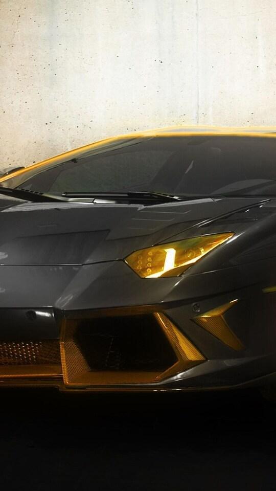 540x960 Lamborghini Tron Gold 540x960 Resolution Hd 4k