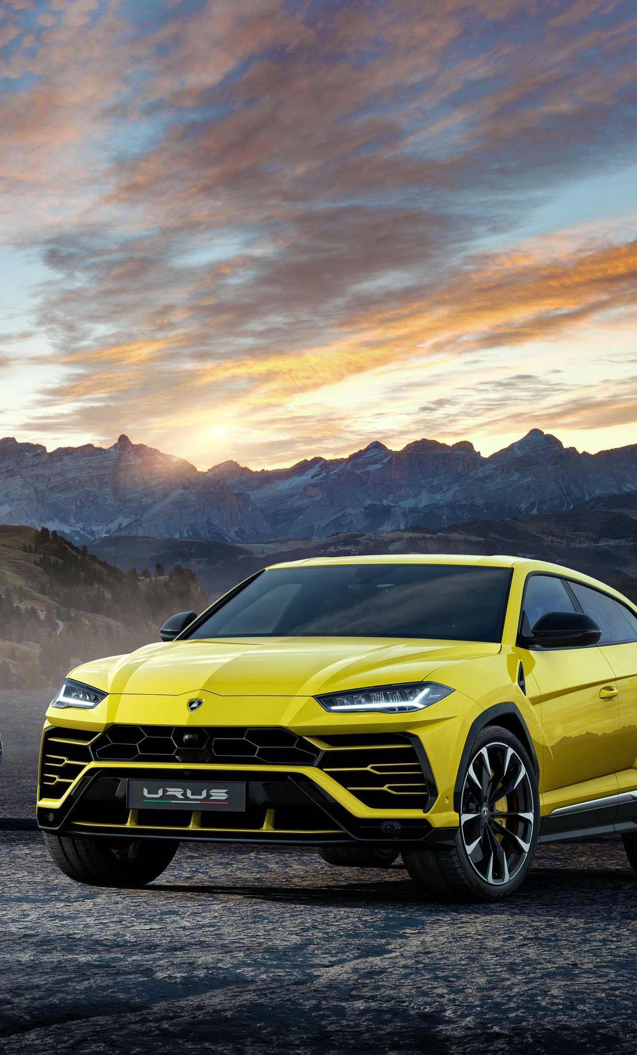 1280x2120 Lamborghini Urus Black And Yellow 4k Iphone 6 Hd 4k