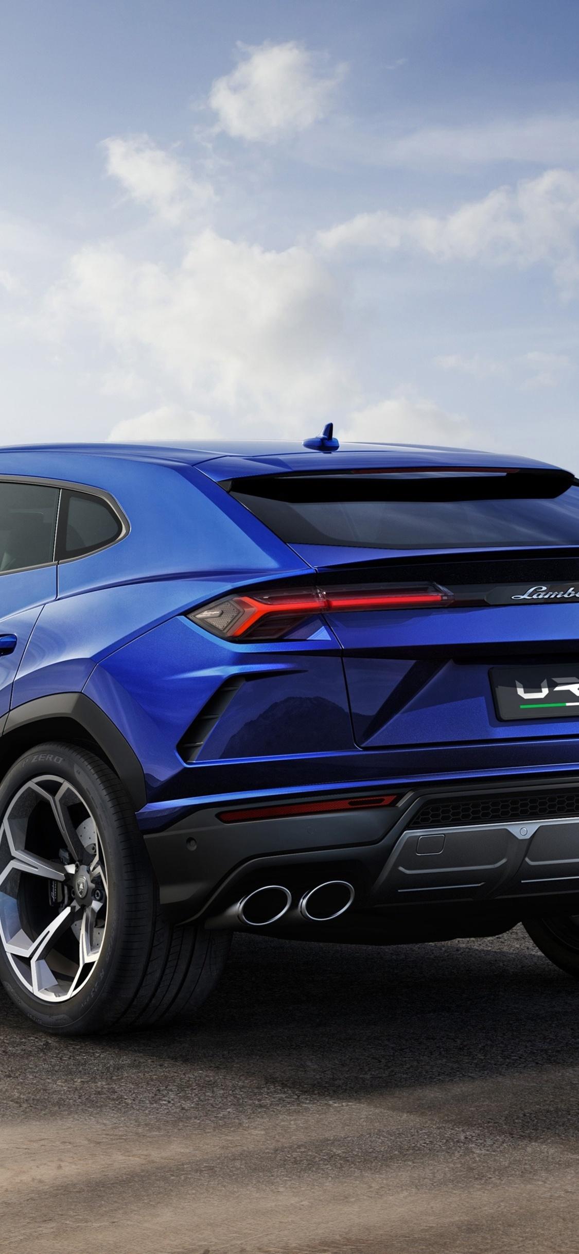 1125x2436 Lamborghini Urus Blue Color 4k Iphone Xs Iphone 10 Iphone