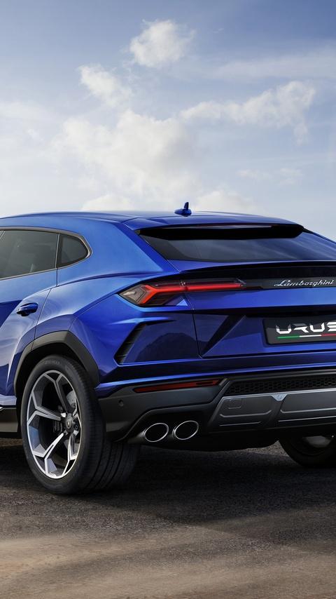 480x854 Lamborghini Urus Blue Color 4k Android One Hd 4k Wallpapers
