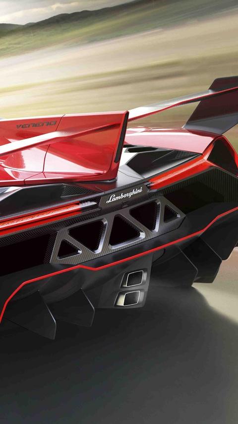 480x854 Lamborghini Veneno Roadster Rear Android One Hd 4k