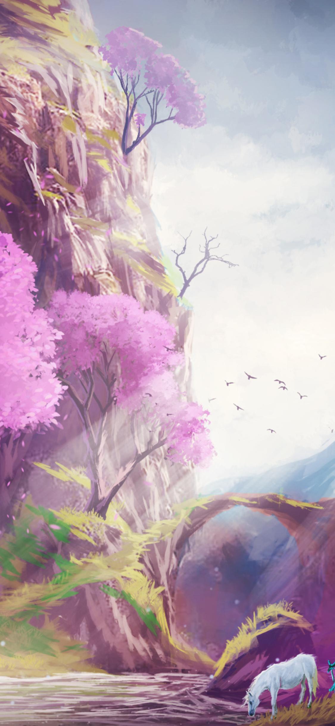 1125x2436 Landscape Fantasy Art Iphone Xs Iphone 10 Iphone X
