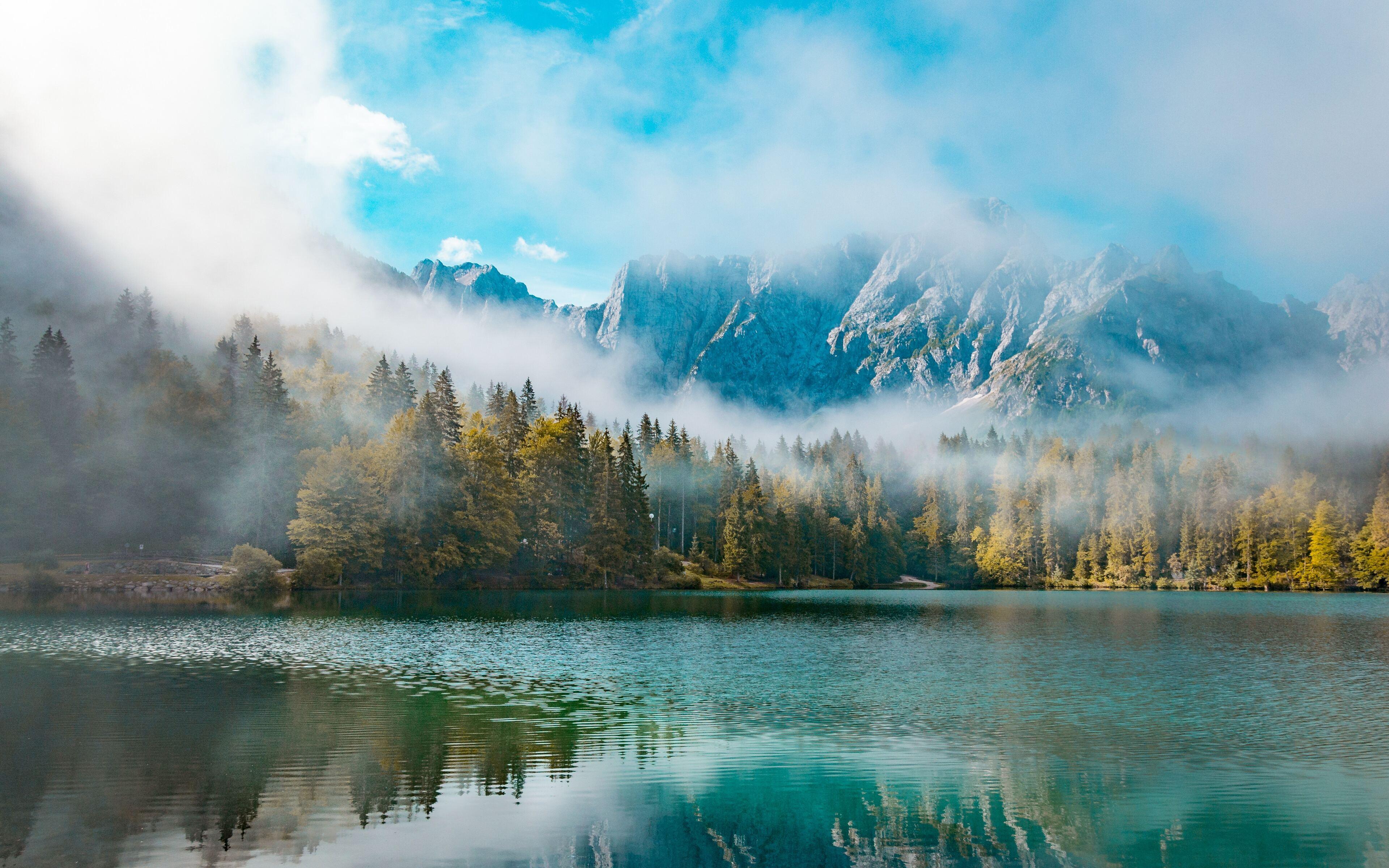3840x2400 Landscape Itlay Forest Mist Mountains 4k 4k HD ...