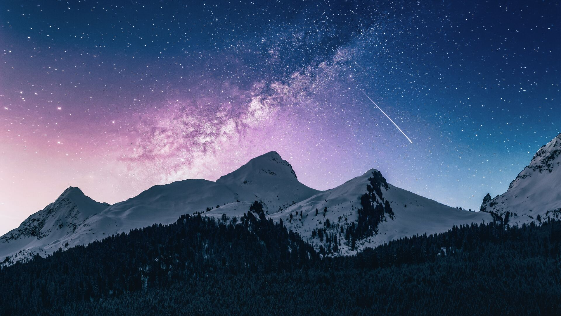 1920x1080 Landscape Outdoor Mountains Galaxy 4k Laptop ...