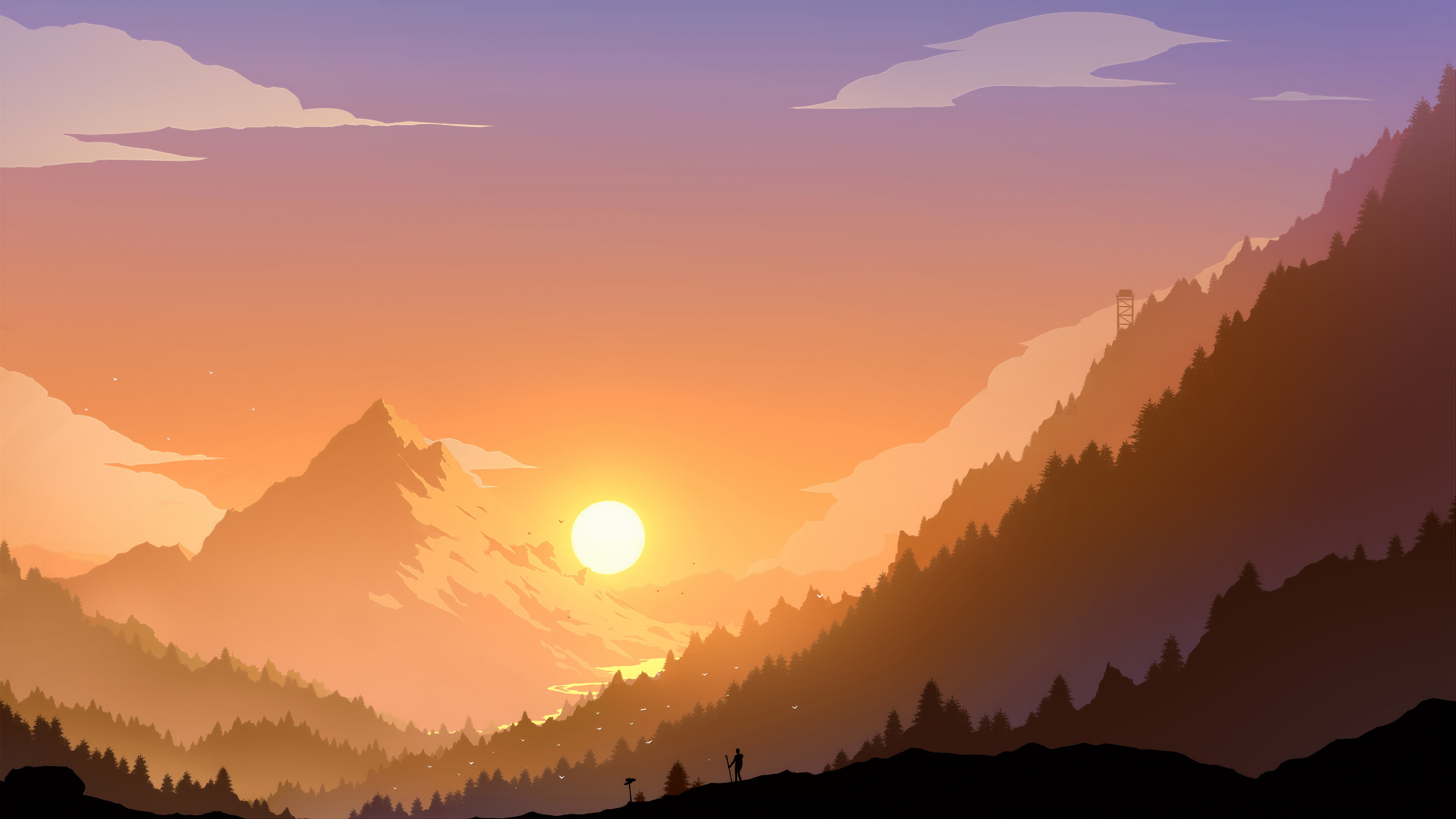 2560x1440 Landscape Scenery Minimal 4k 1440P Resolution HD ...
