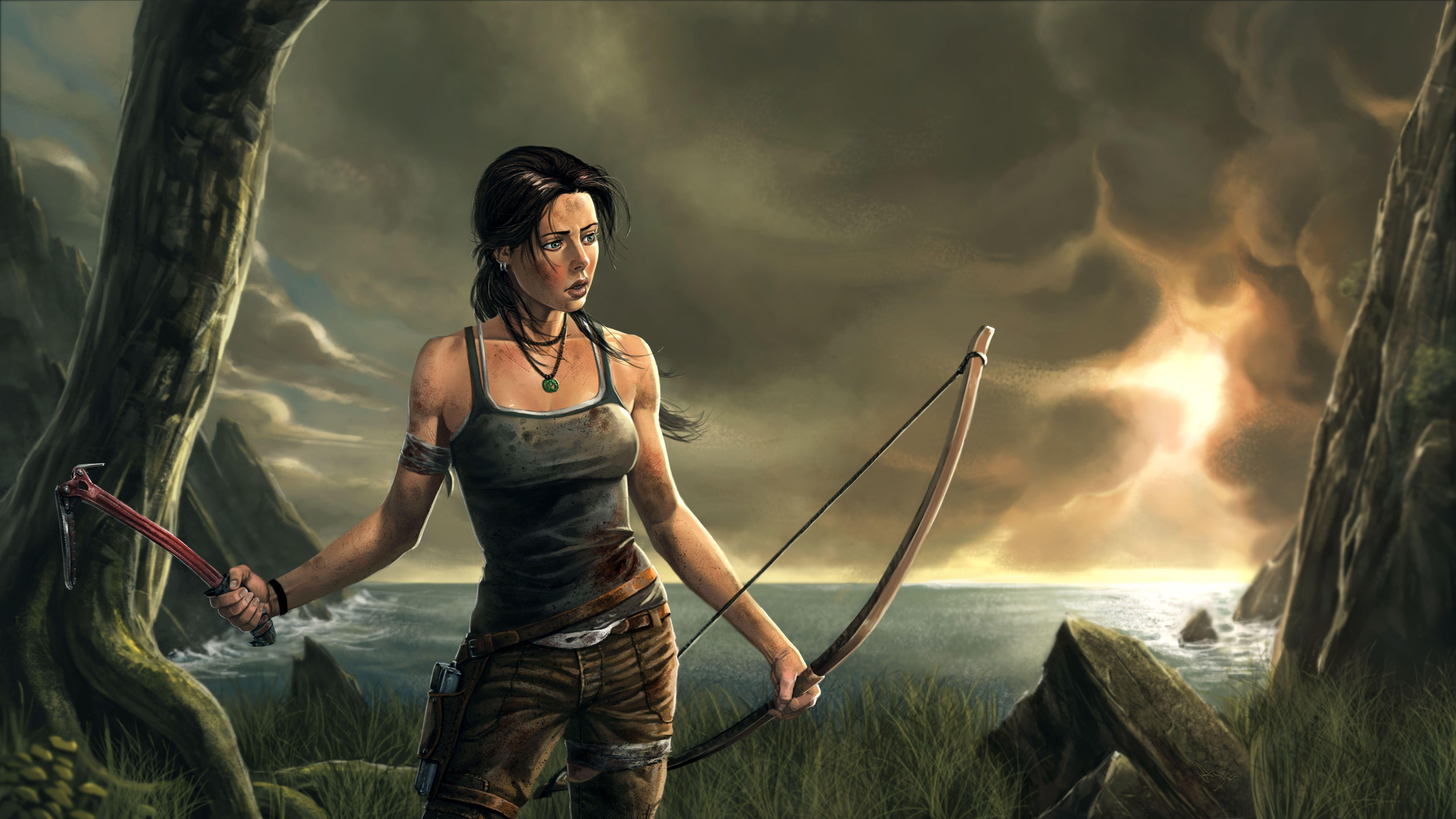 3840x2160 Lara Croft Tomb Raider Artwork 4k Hd 4k: 7680x4320 Lara Croft 8k Artwork 8k HD 4k Wallpapers