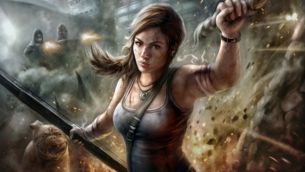 1280x720 Lara Croft Tomb Raider Fanart 5k 720p Hd 4k Wallpapers