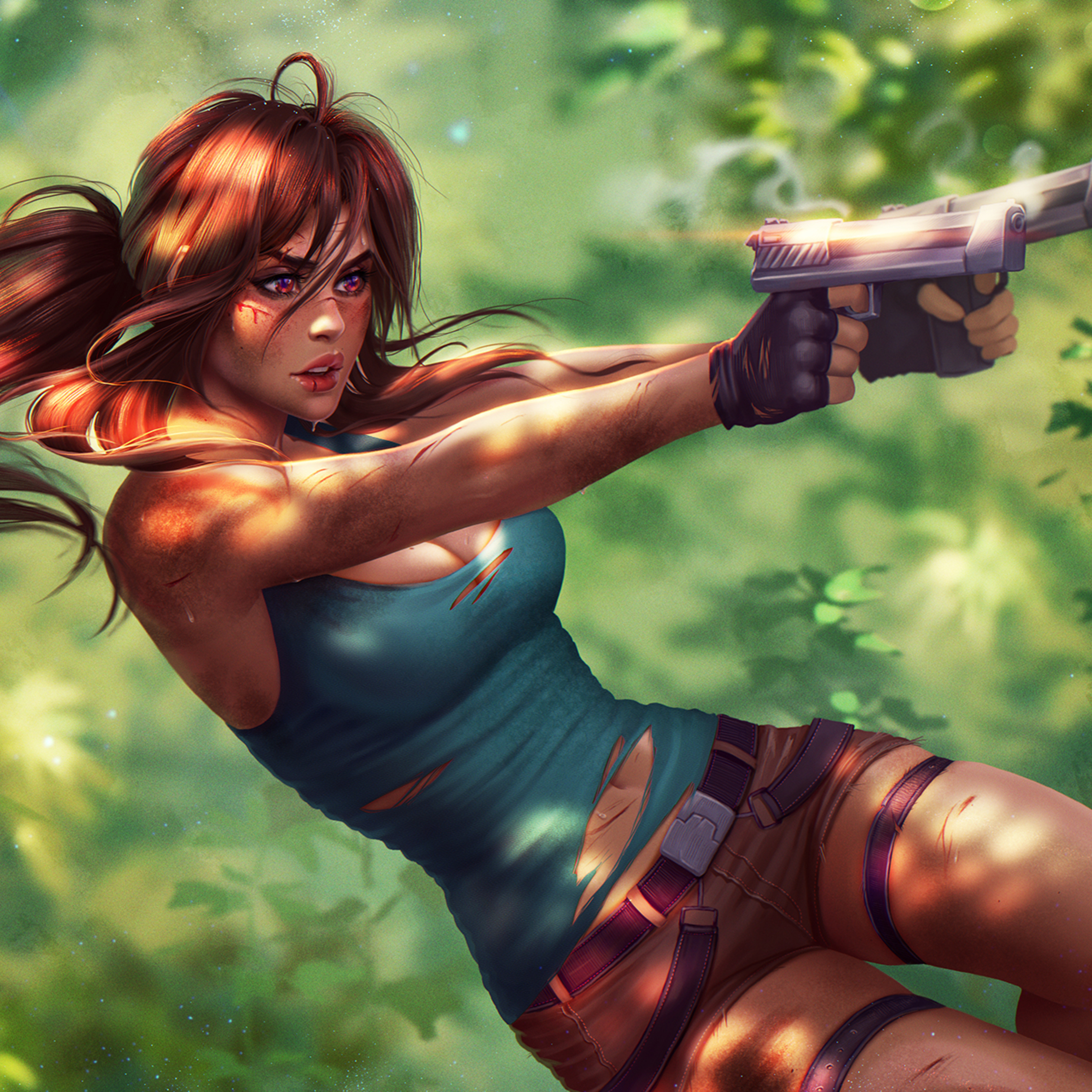 Tomb Rider Wallpaper: 2932x2932 Lara Croft Tomb Raider Fanart Ipad Pro Retina