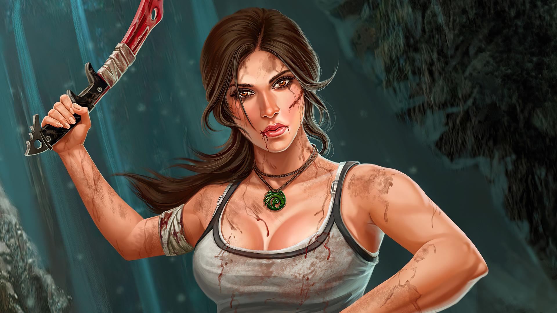 Lara Croft HD Wallpaper for iphone - Usefulcraft.com