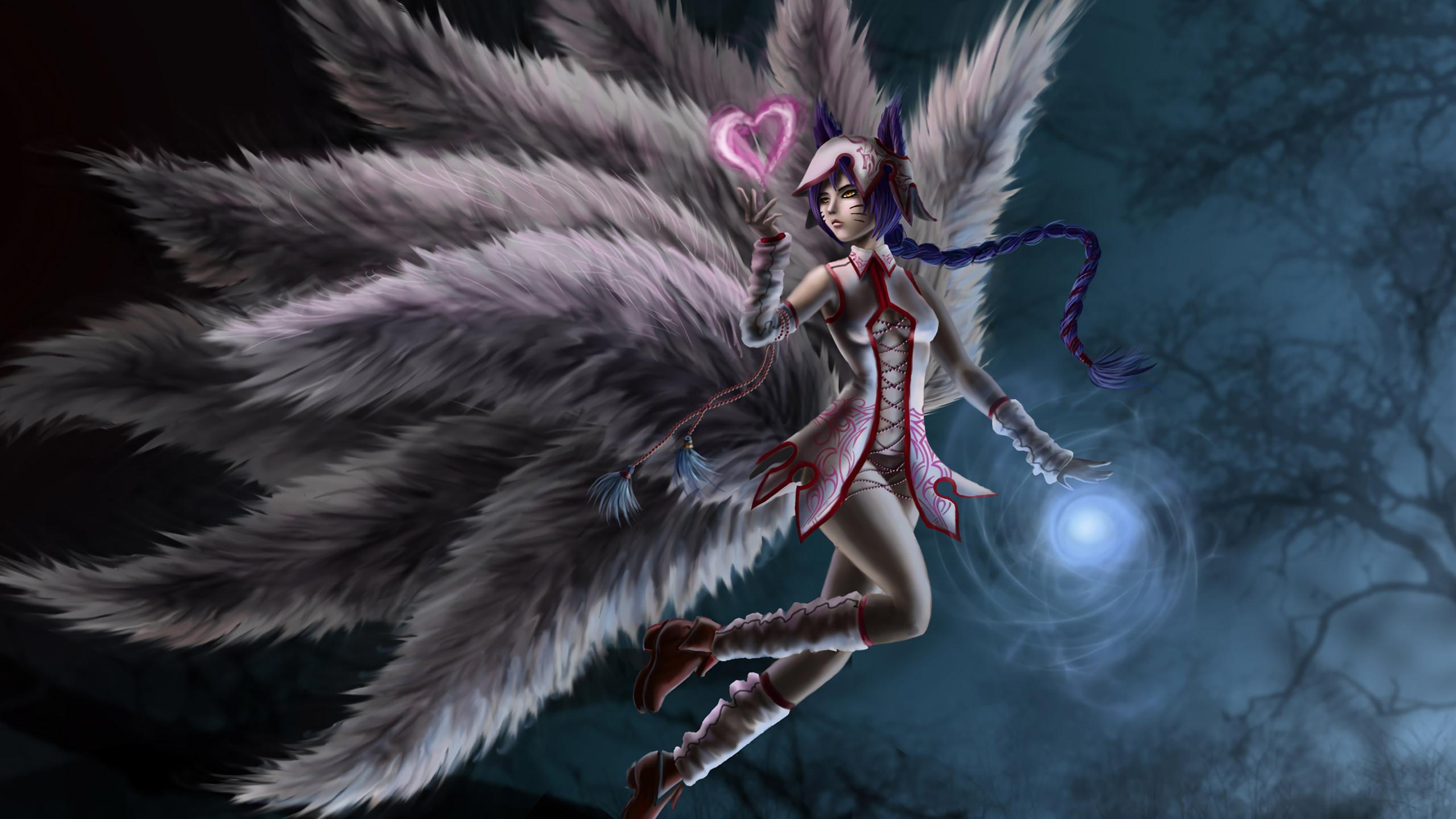2560x1440 League Of Legends Ahri Art 1440p Resolution Hd 4k