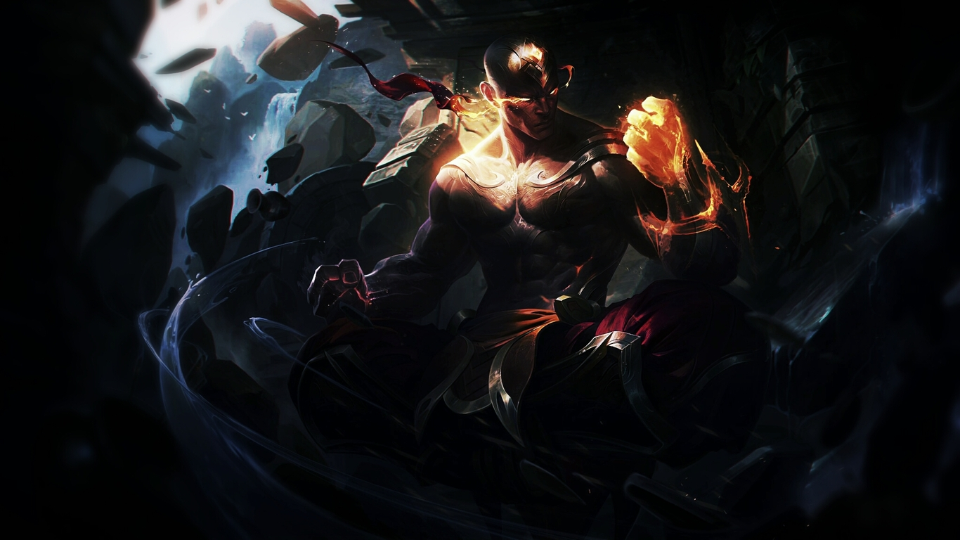 1366x368 Resolution Vs 1600x900: 1366x768 Lee Sin League Of Legends HD 1366x768 Resolution