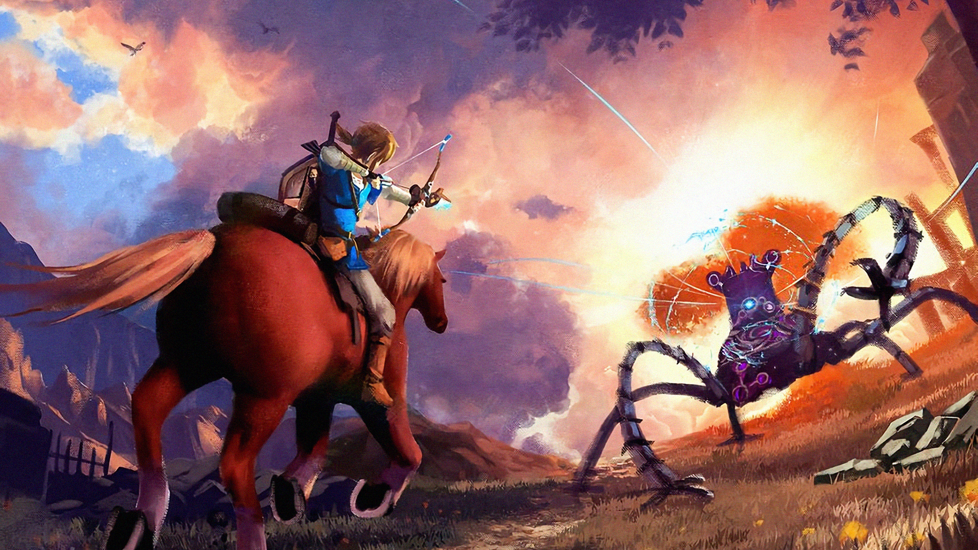 1920x1080 Legend Of Zelda Breath Of The Wild Laptop Full Hd 1080p
