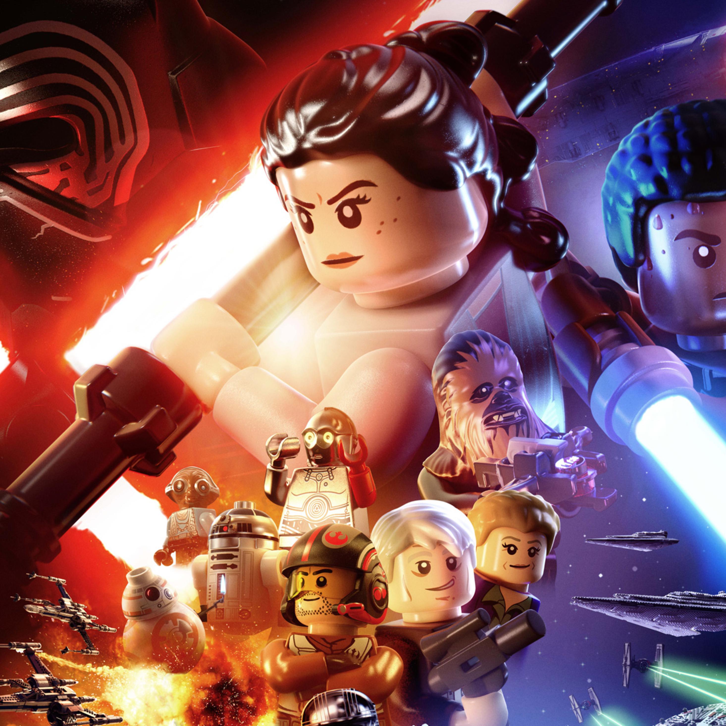 2932x2932 Lego Star Wars The Force Awakens Ipad Pro Retina Display