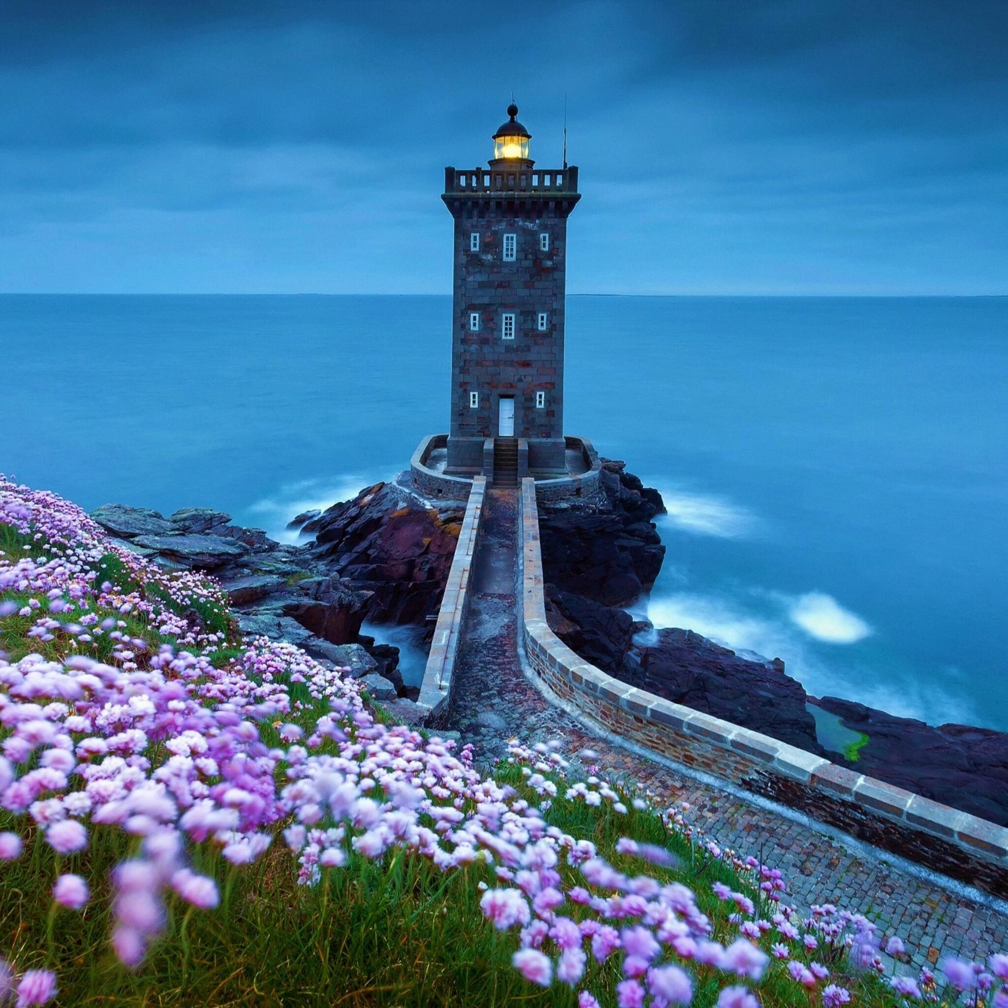 2048x2048 Lighthouse Spring Ipad Air HD 4k Wallpapers