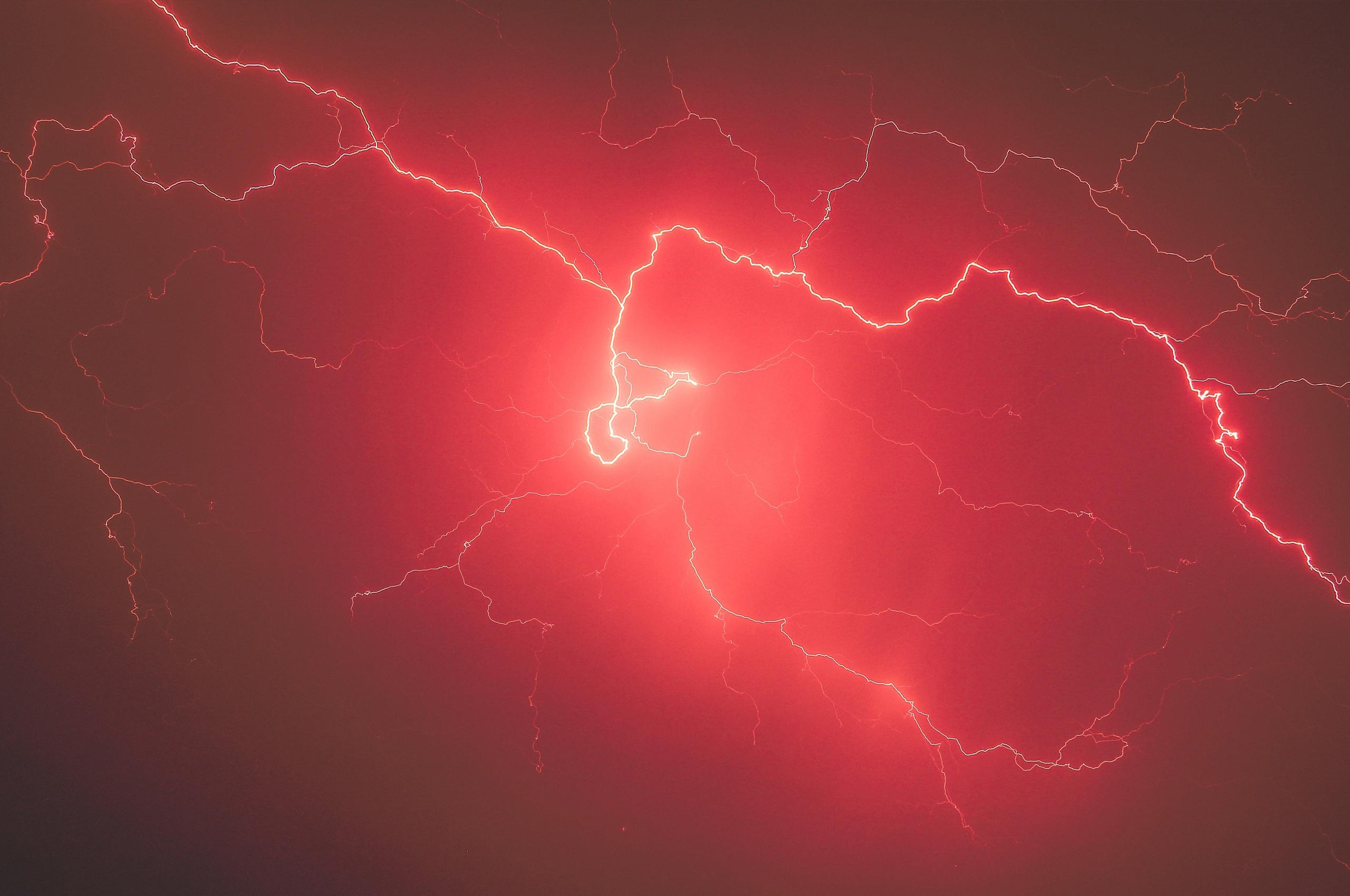 2560x1700 lightning storm red sky 5k chromebook pixel hd 4k