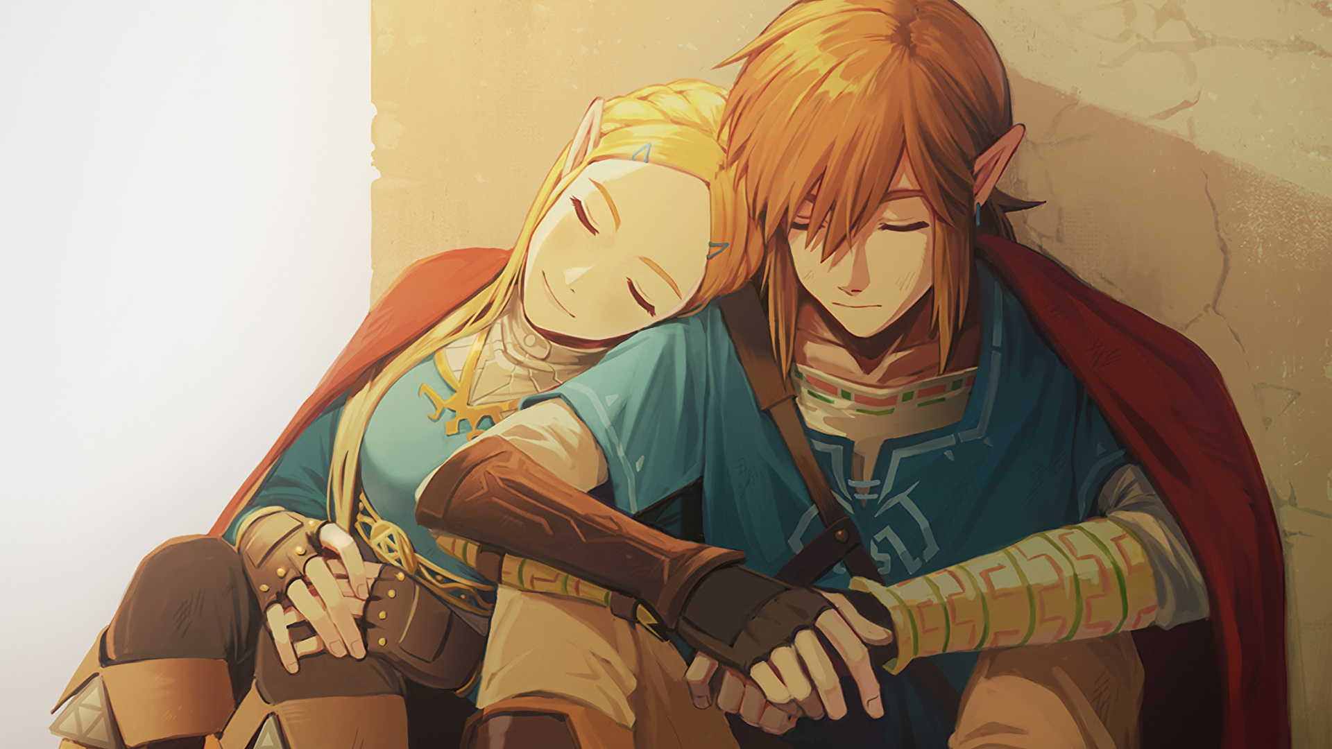 Link And Zelda In The Legend Of