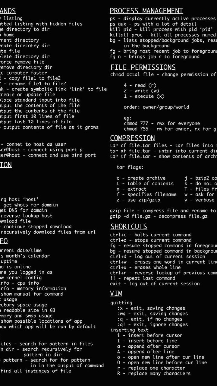 720x1280 Linux Dark Command Line Moto G,X Xperia Z1,Z3
