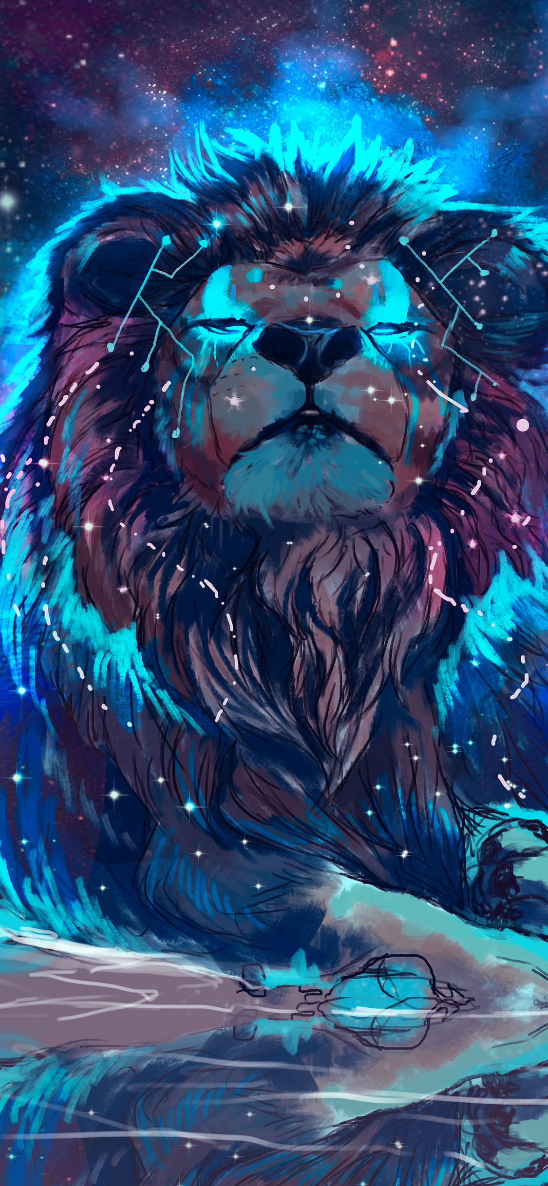 1125x2436 lion 4k artistic colorful iphone xs iphone 10 - Lion 4k wallpaper for mobile ...