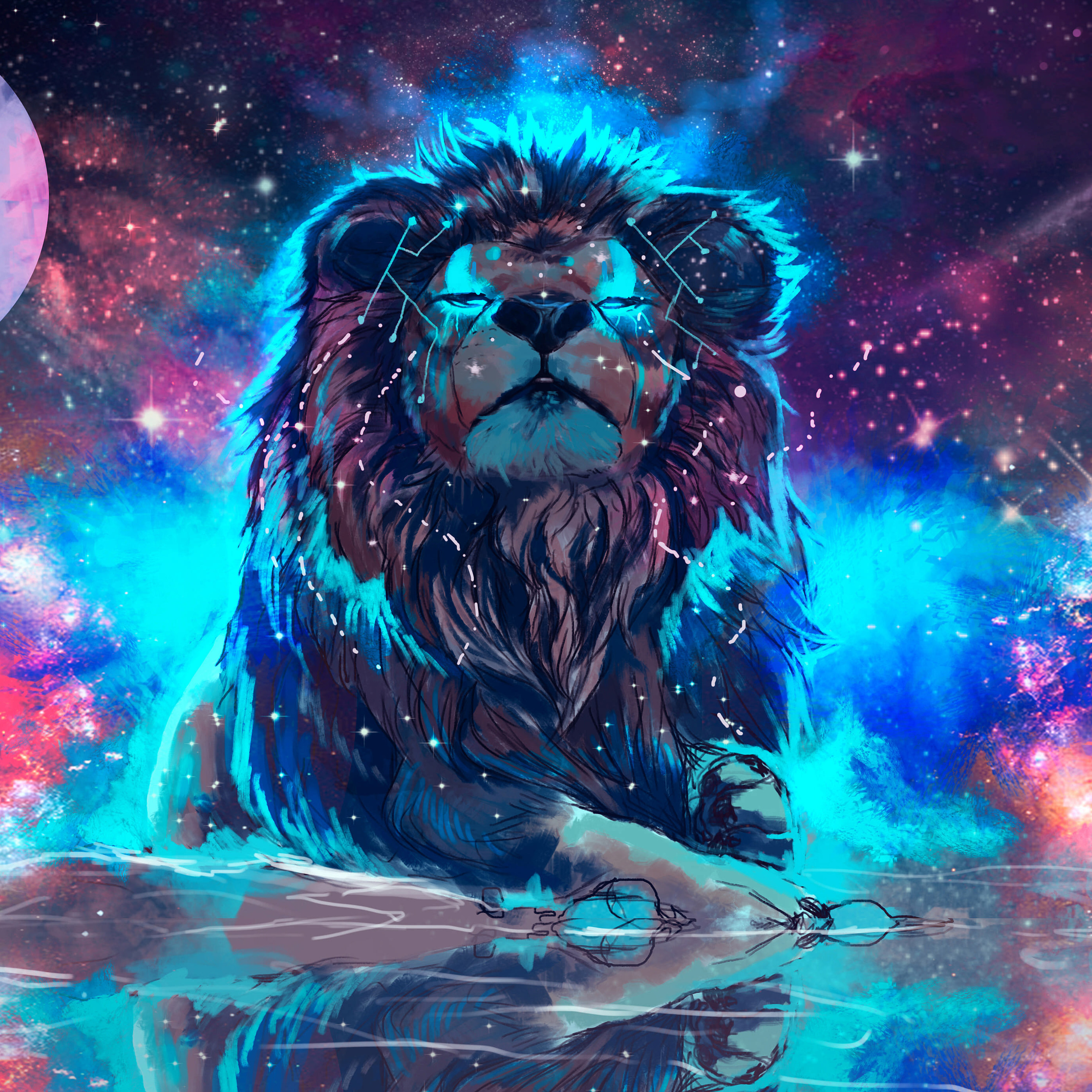2932x2932 Lion 4k Artistic Colorful Ipad Pro Retina Display Hd 4k Wallpapers Images Backgrounds Photos And Pictures