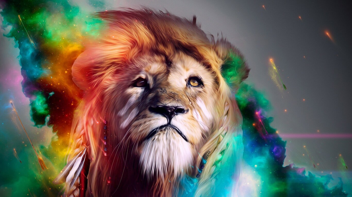 x Lion Abstract k x Resolution HD k Wallpapers