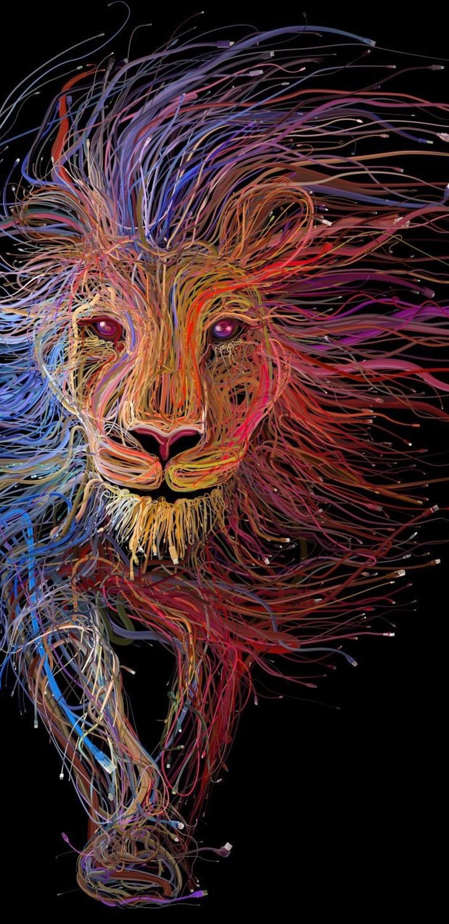 1440x2960 Lion Wires Art Samsung Galaxy Note 9 8 S9 S8 S8 Qhd Hd