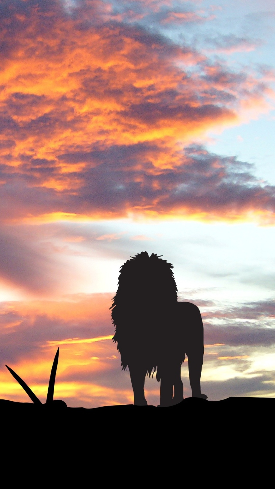 1080x1920 Lions Africa Silhouette Sunset Iphone 7 6s 6 Plus Pixel