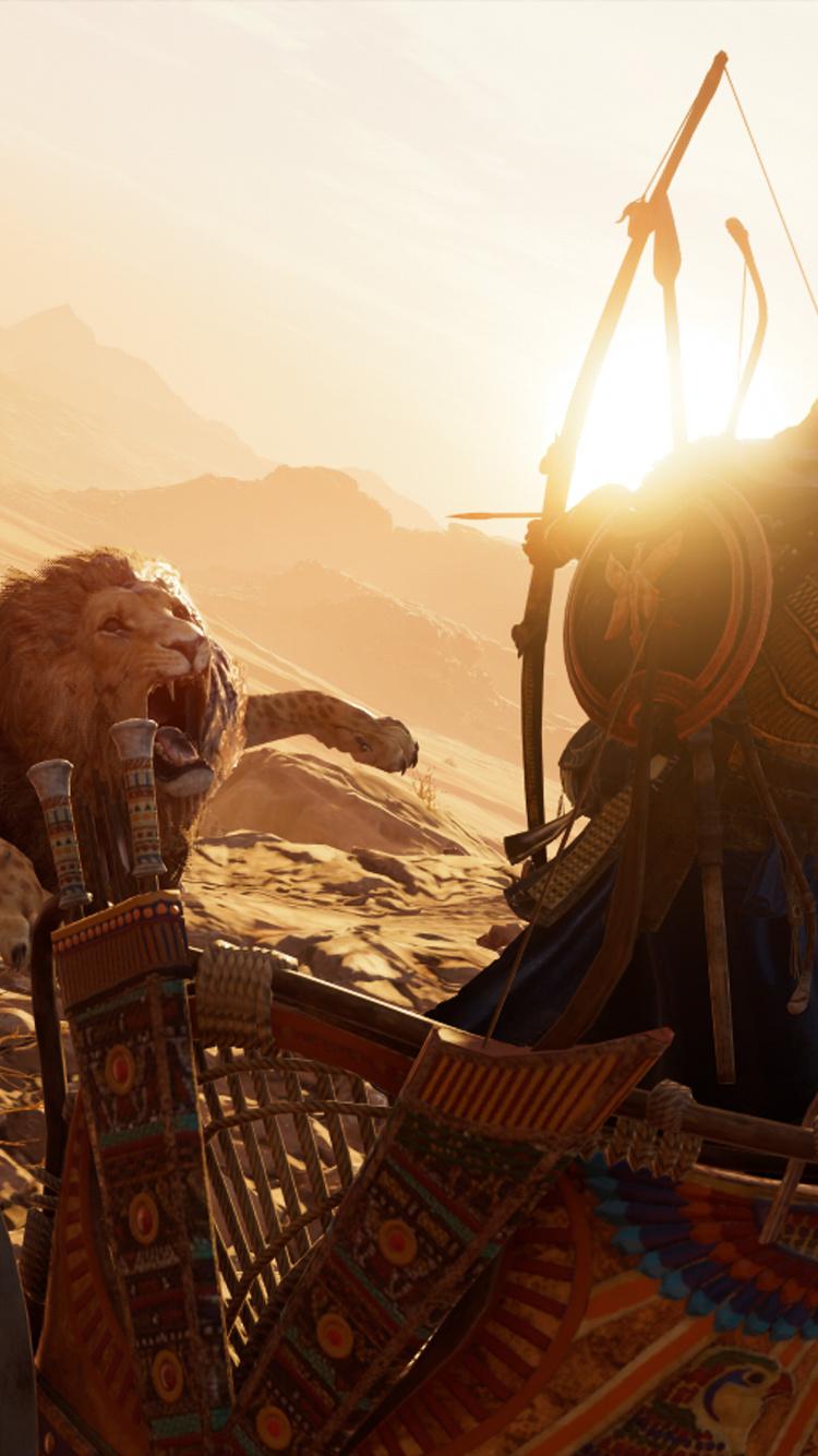 750x1334 Lions Assassins Creed Origins 4k Iphone 6 Iphone 6s