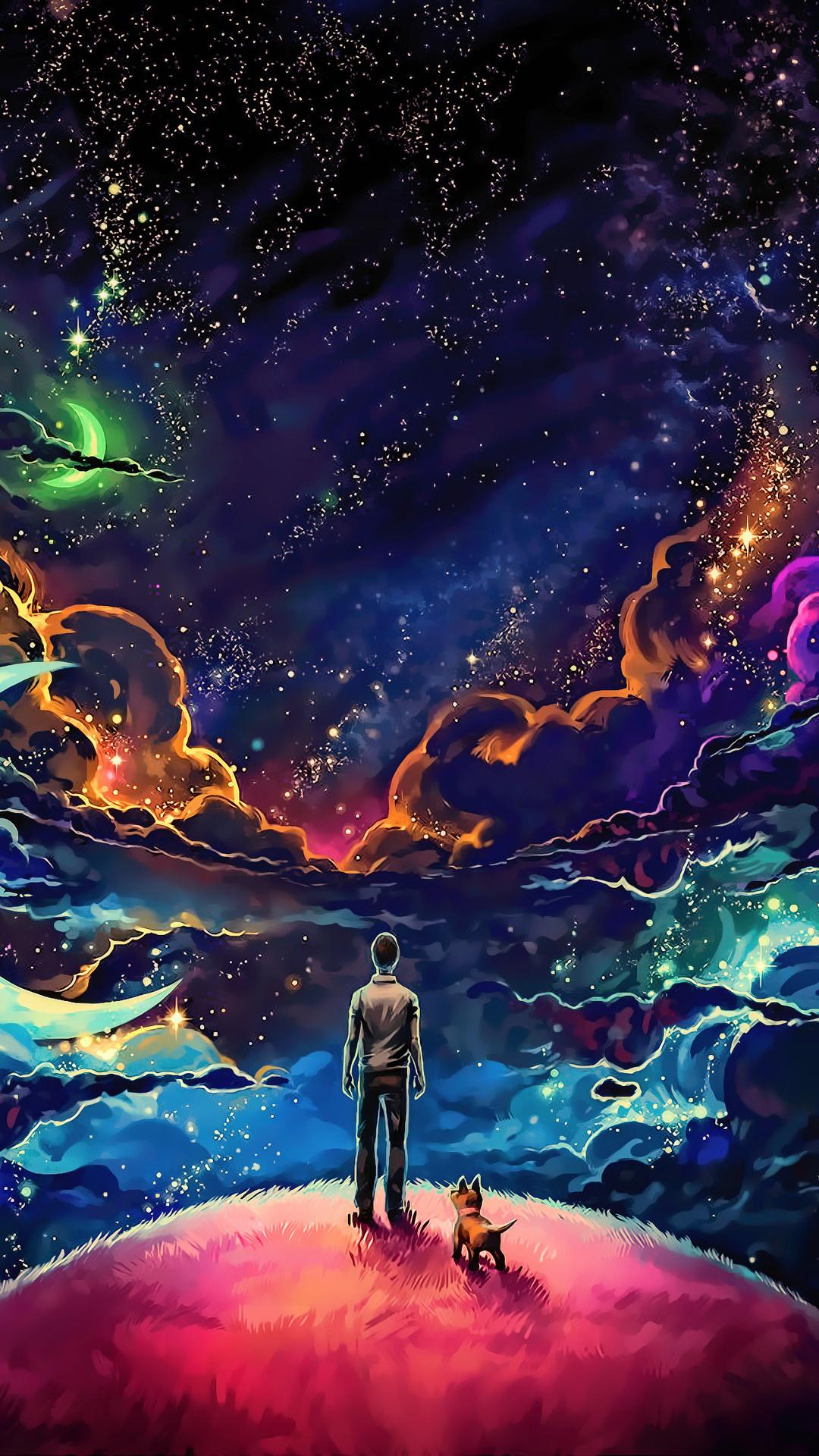 little-prince-with-dog-colorful-science-fiction-fantasy-art-stars-artwork-4k-k7.jpg