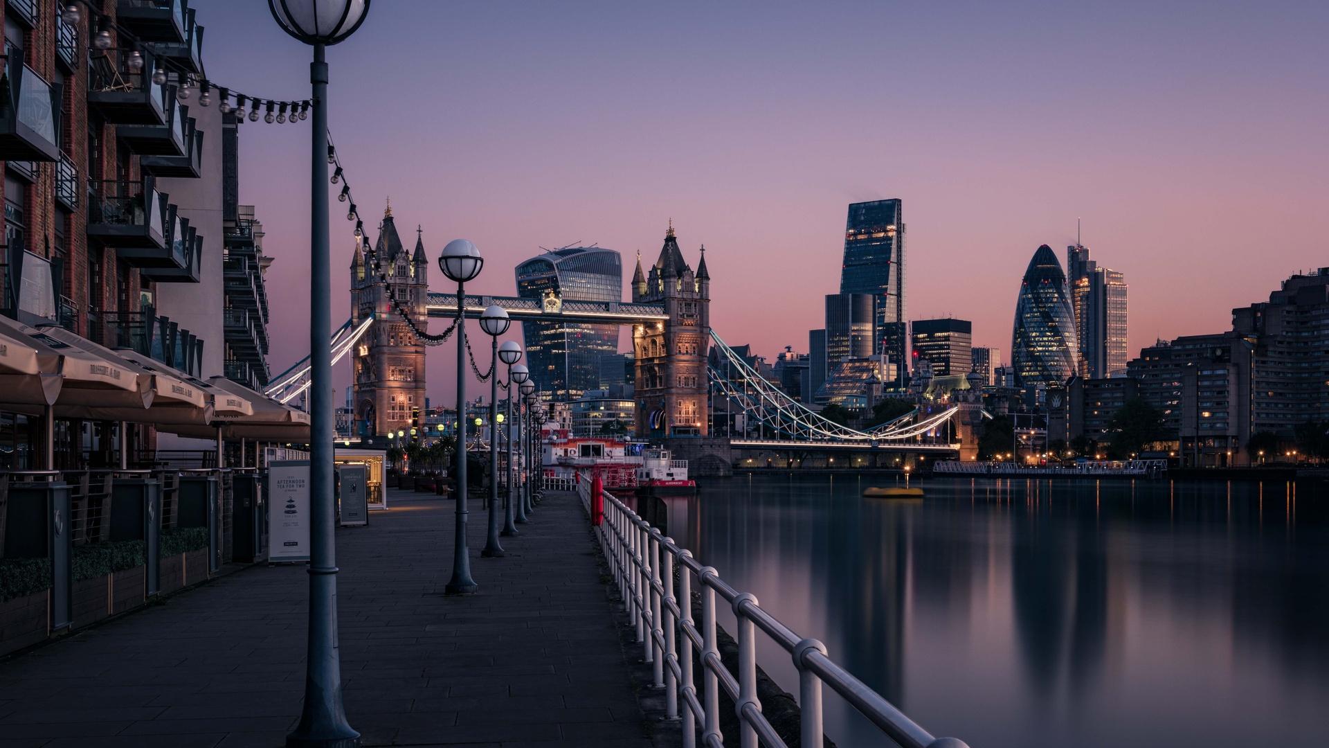 1920x1080 London England Tower Bridge Thames River