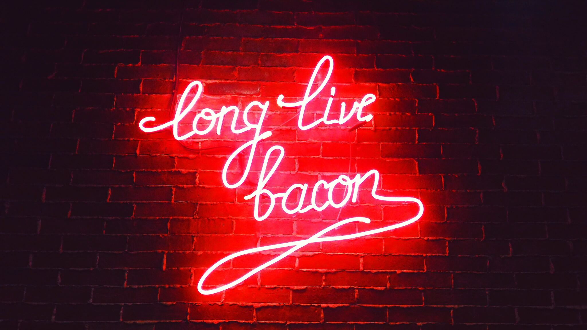 2048x1152 Long Live Bacon Neon Lights 2048x1152 Resolution HD Wallpapers Download Free Images Wallpaper [1000image.com]