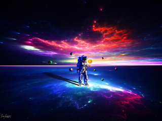 320x240 Lost Alone Astronaut Apple Iphone Ipod Touch Galaxy Ace Hd 4k Wallpapers Images Backgrounds Photos And Pictures