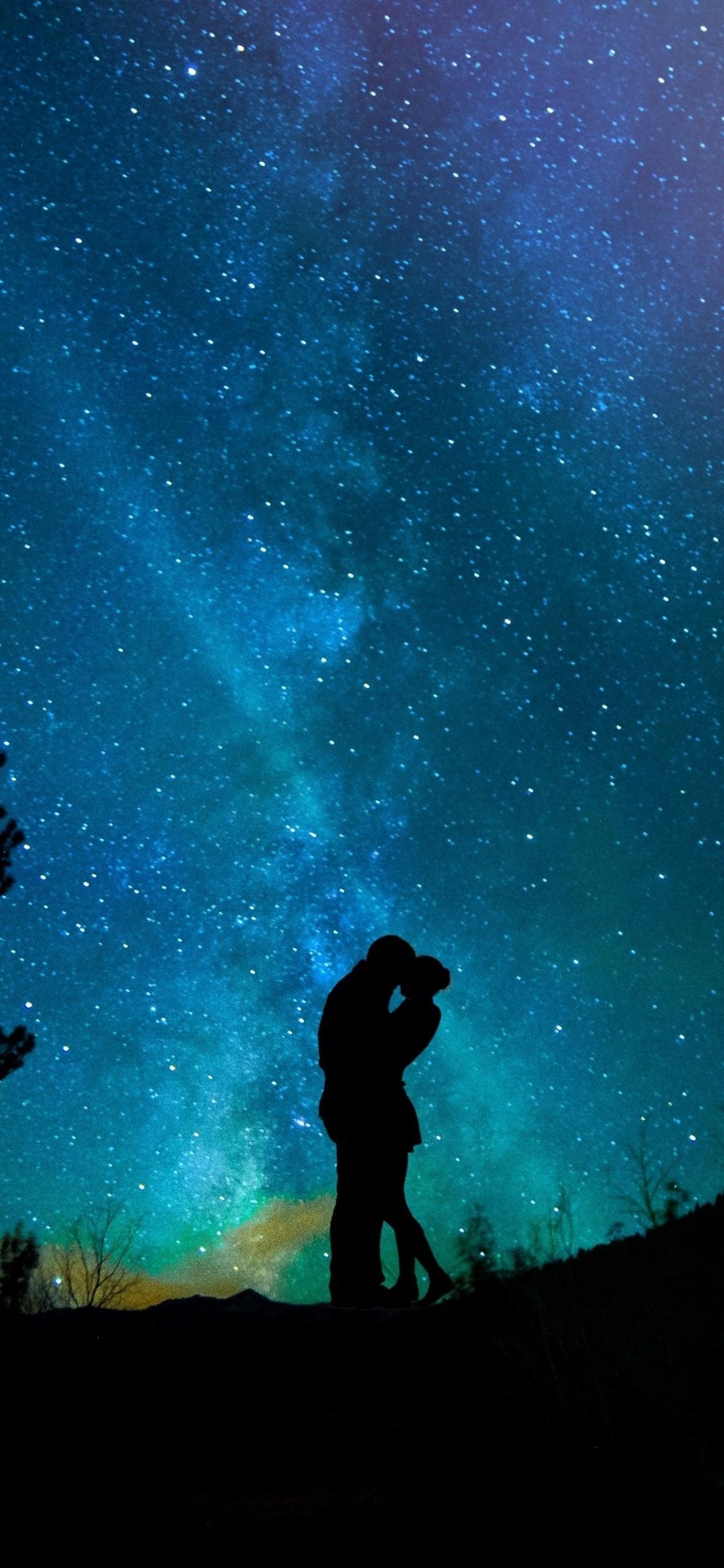 1125x2436 Lovers Night Sky Starry Sky Iphone Xs Iphone 10