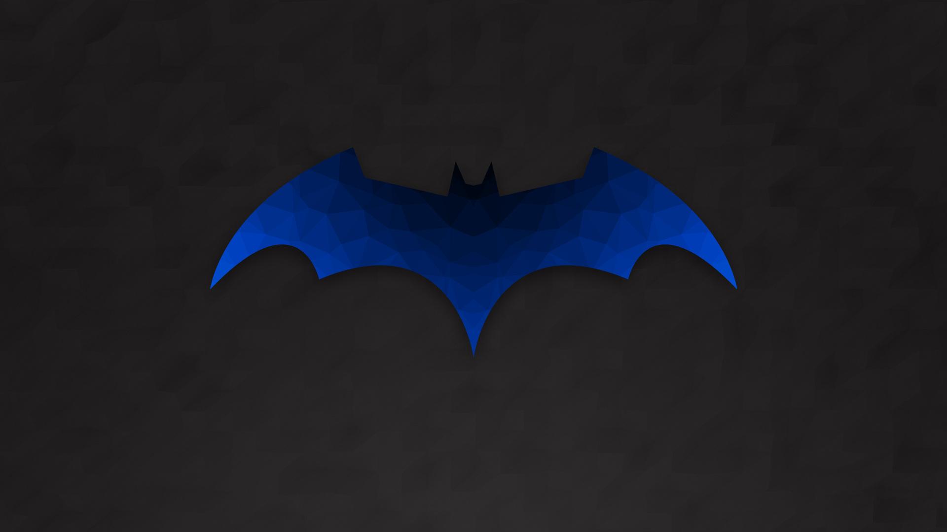 1920x1080 Low Polygon Batman Logo Laptop Full HD 1080P HD ...