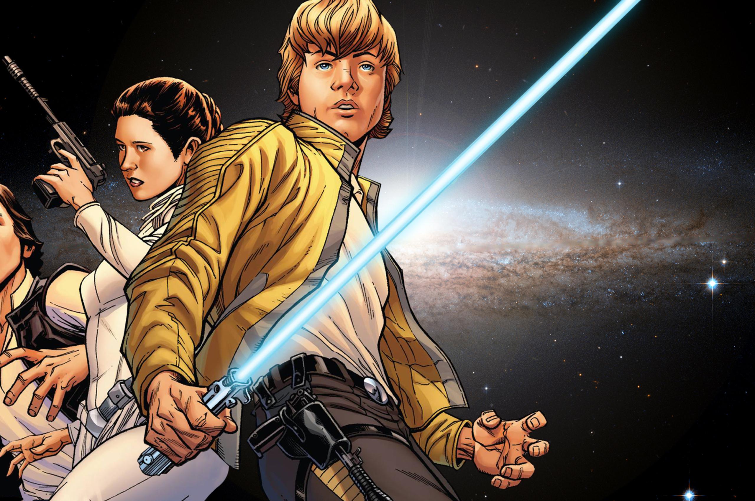 Luke Skywalker Han Solo Princess Leia Artwork X9