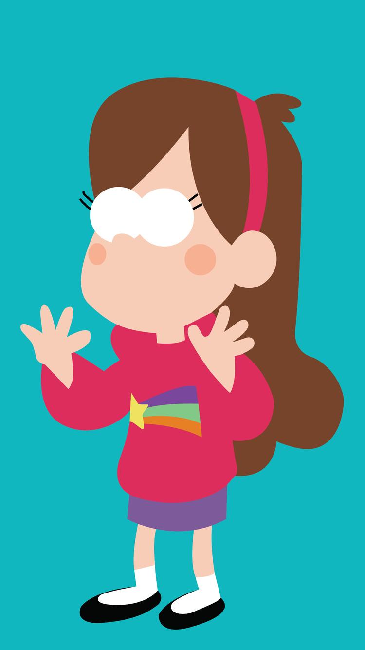 750x1334 Mabel In Gravity Falls Minimalism 8k Iphone 6