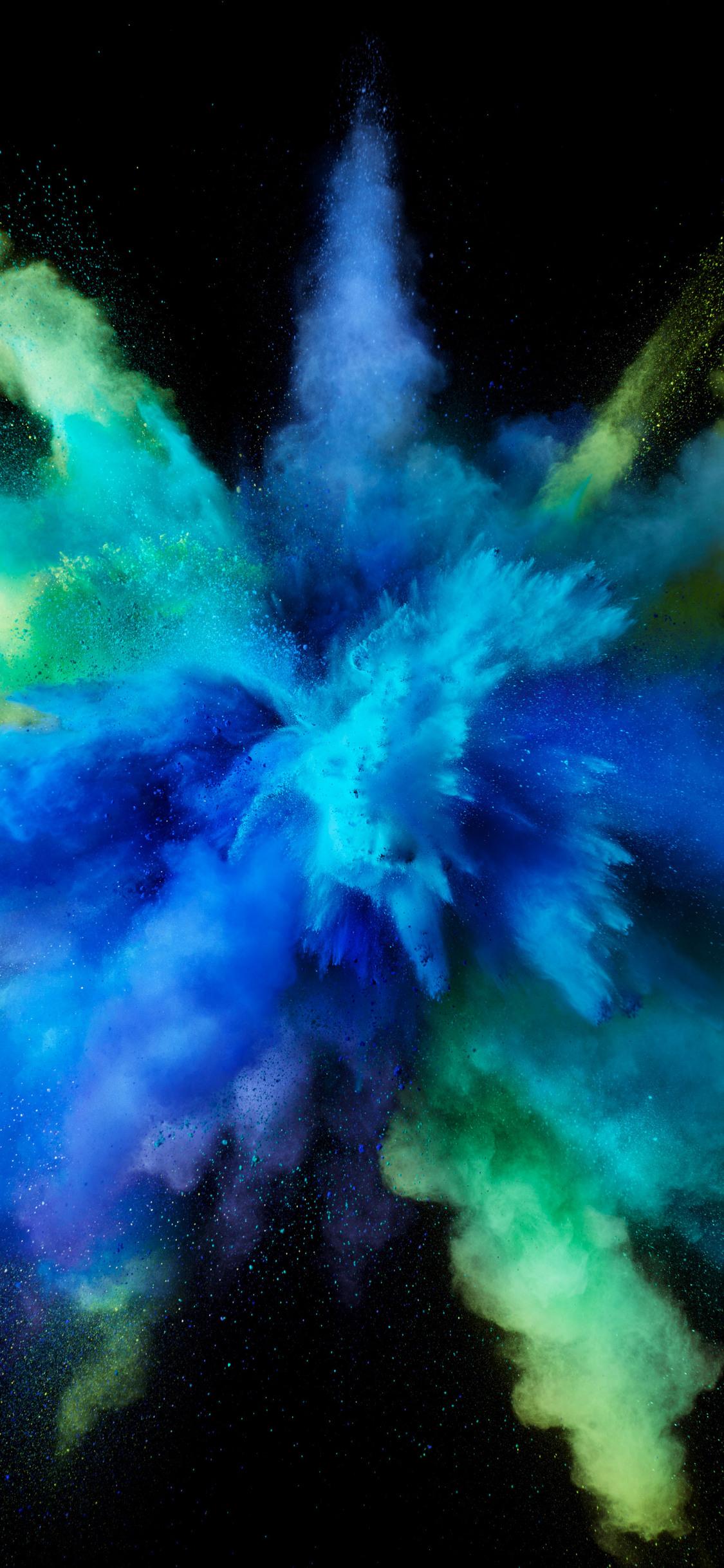 1125x2436 Mac OS Sierra Color Splash Blue 5k Iphone XS ...