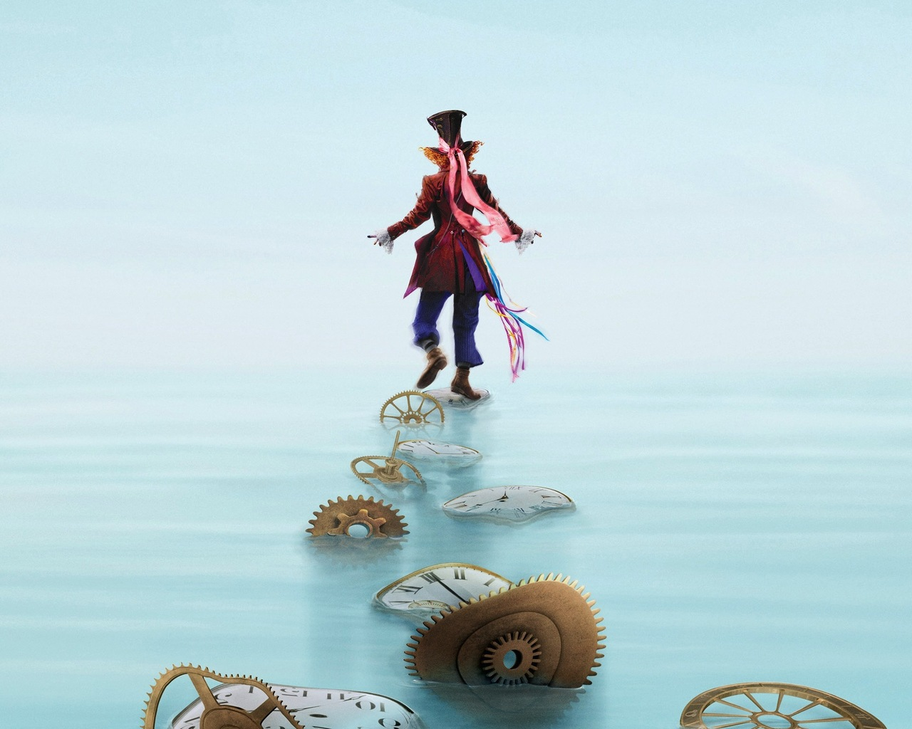 1280x1024 Mad Hatter Alice Through The Looking Glass