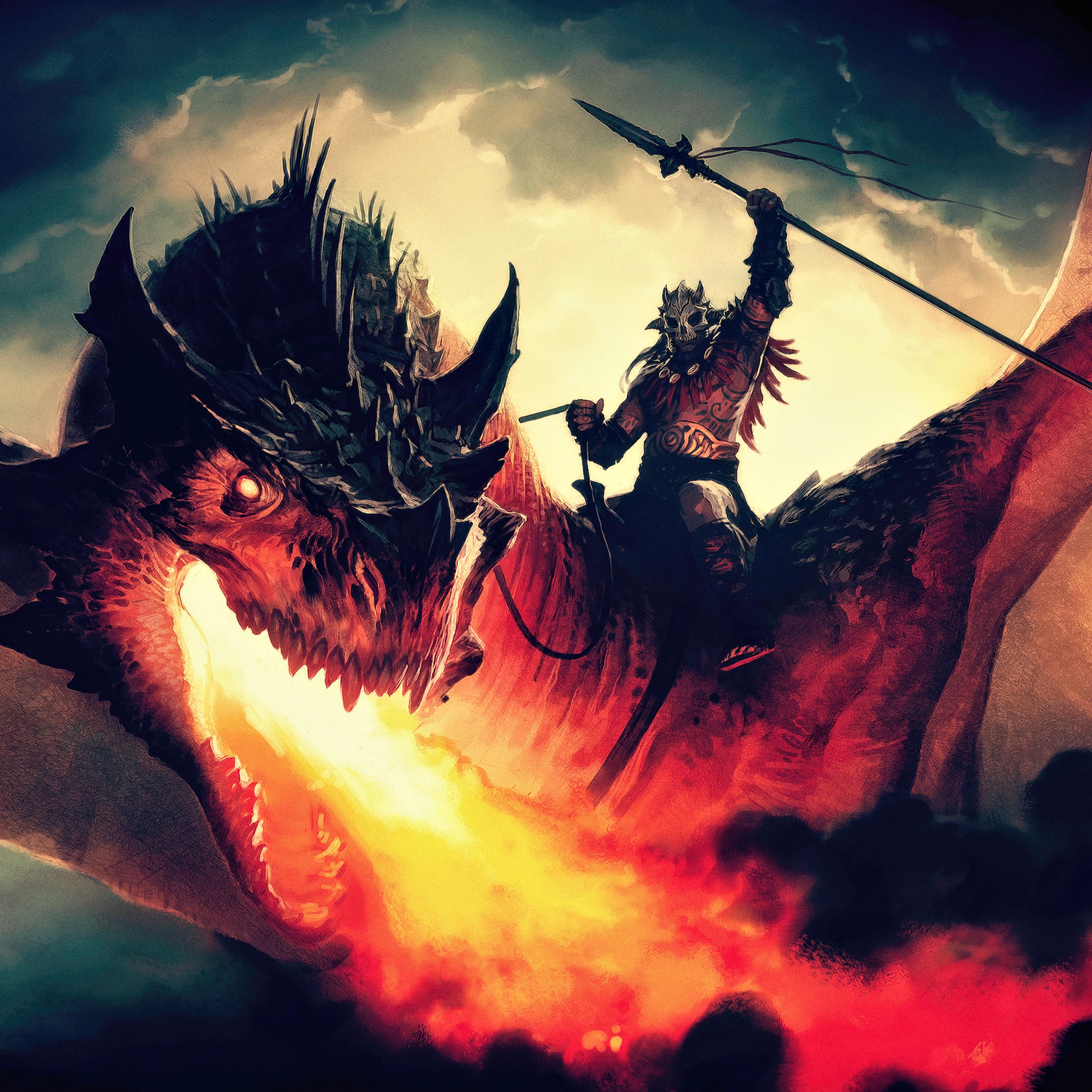 2932x2932 Magic The Gathering Arena Dragon Concept Art Ipad