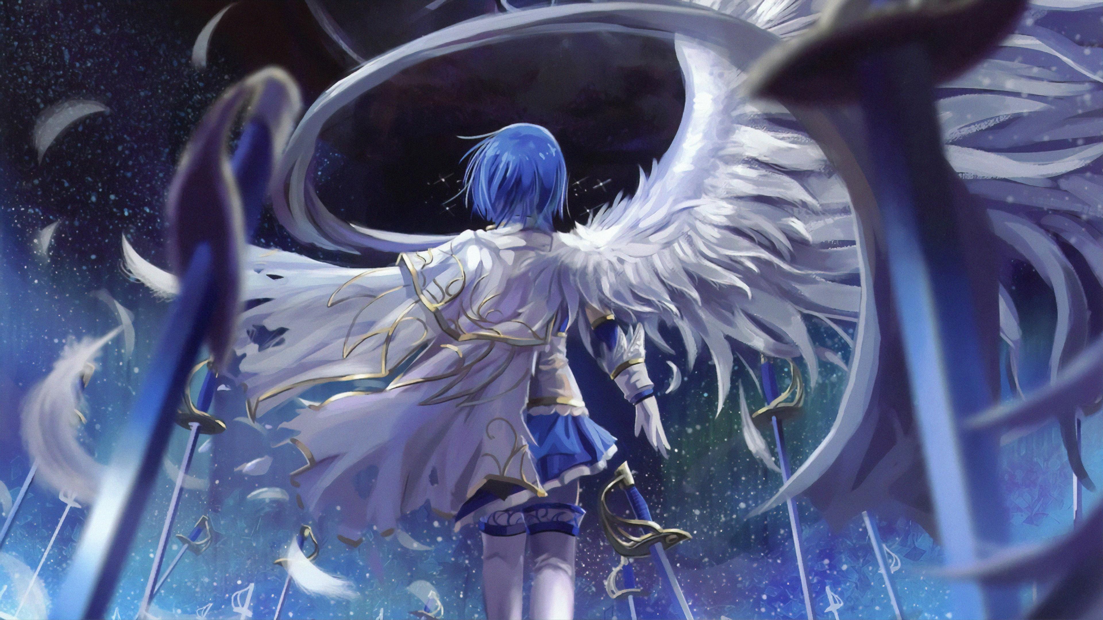 3840x2160 Mahou Shoujo Madoka Magica Blue Hair Anime 4k 4k Hd 4k