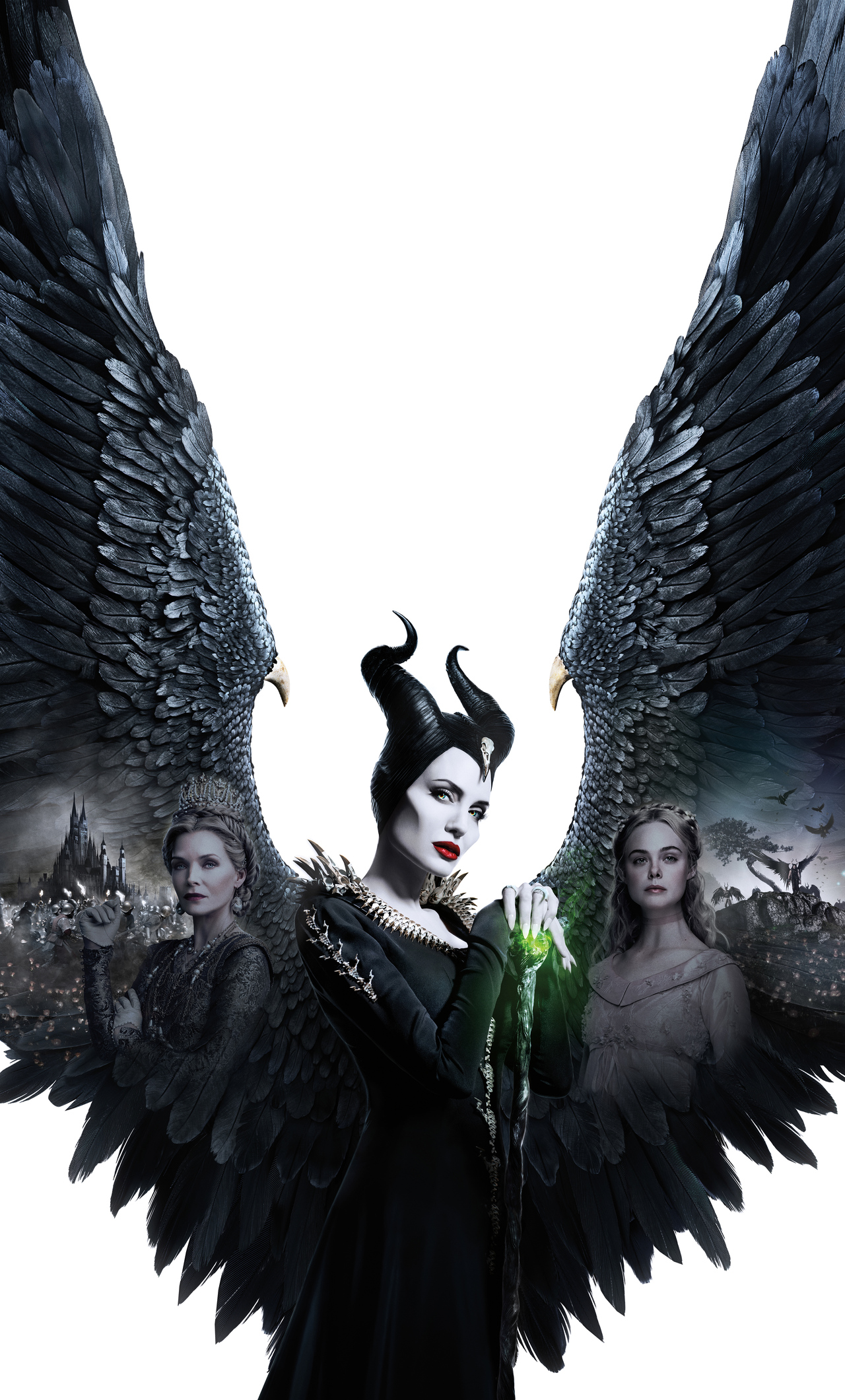 1280x2120 Maleficent Mistress Of Evil 5k 2019 Poster Iphone