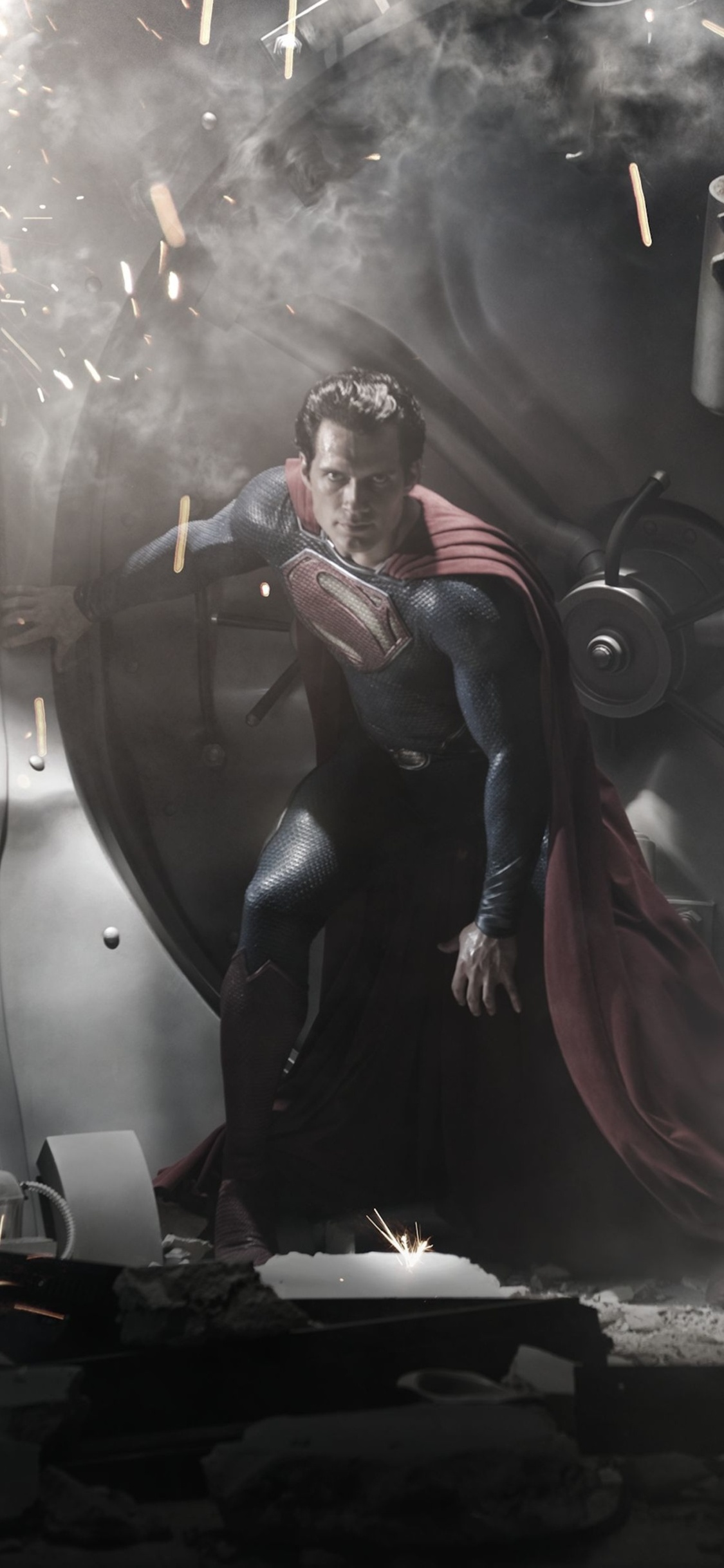 1125x2436 Man Of Steel Superman 4k Iphone Xs Iphone 10 Iphone X Hd
