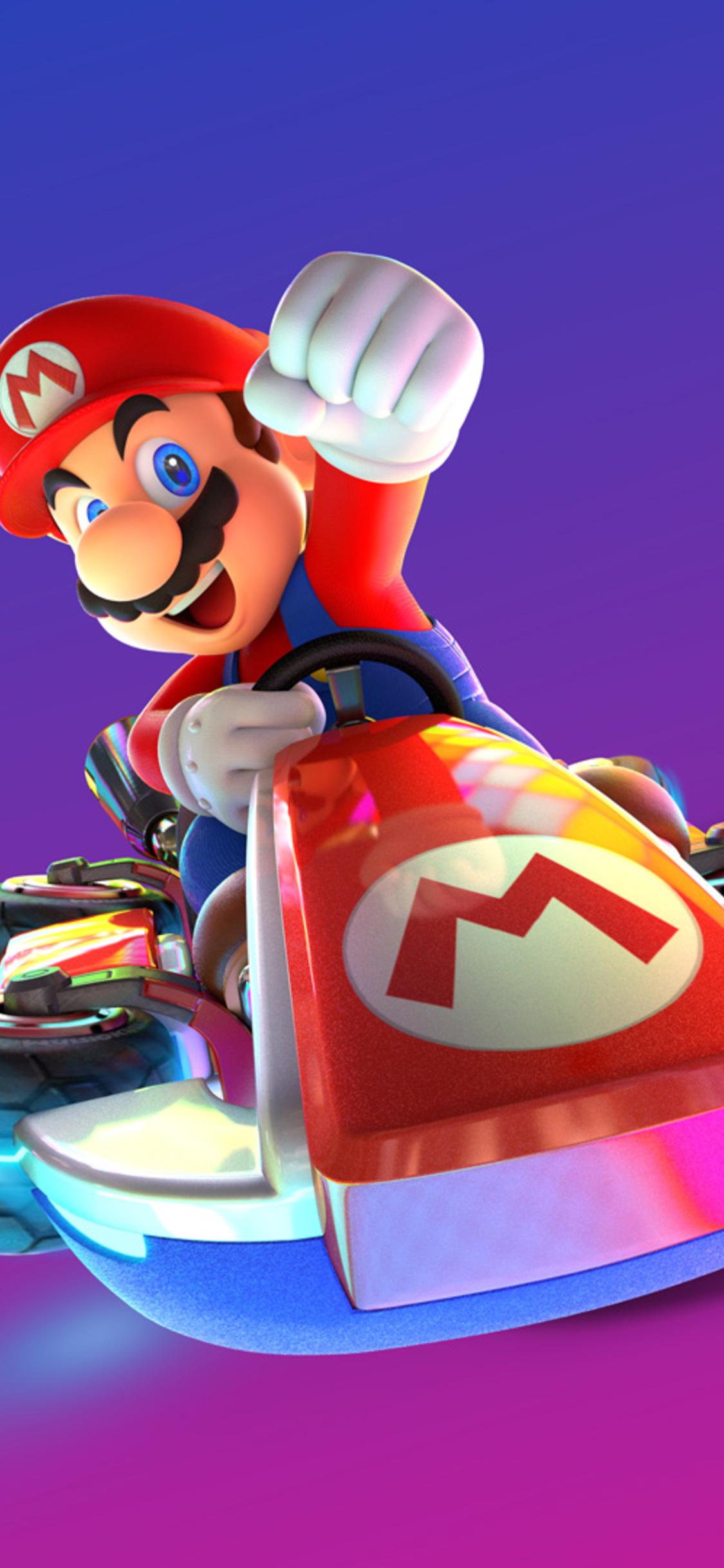 1125x2436 Mario Kart 8 Deluxe Nintendo Switch Game Iphone Xs Iphone