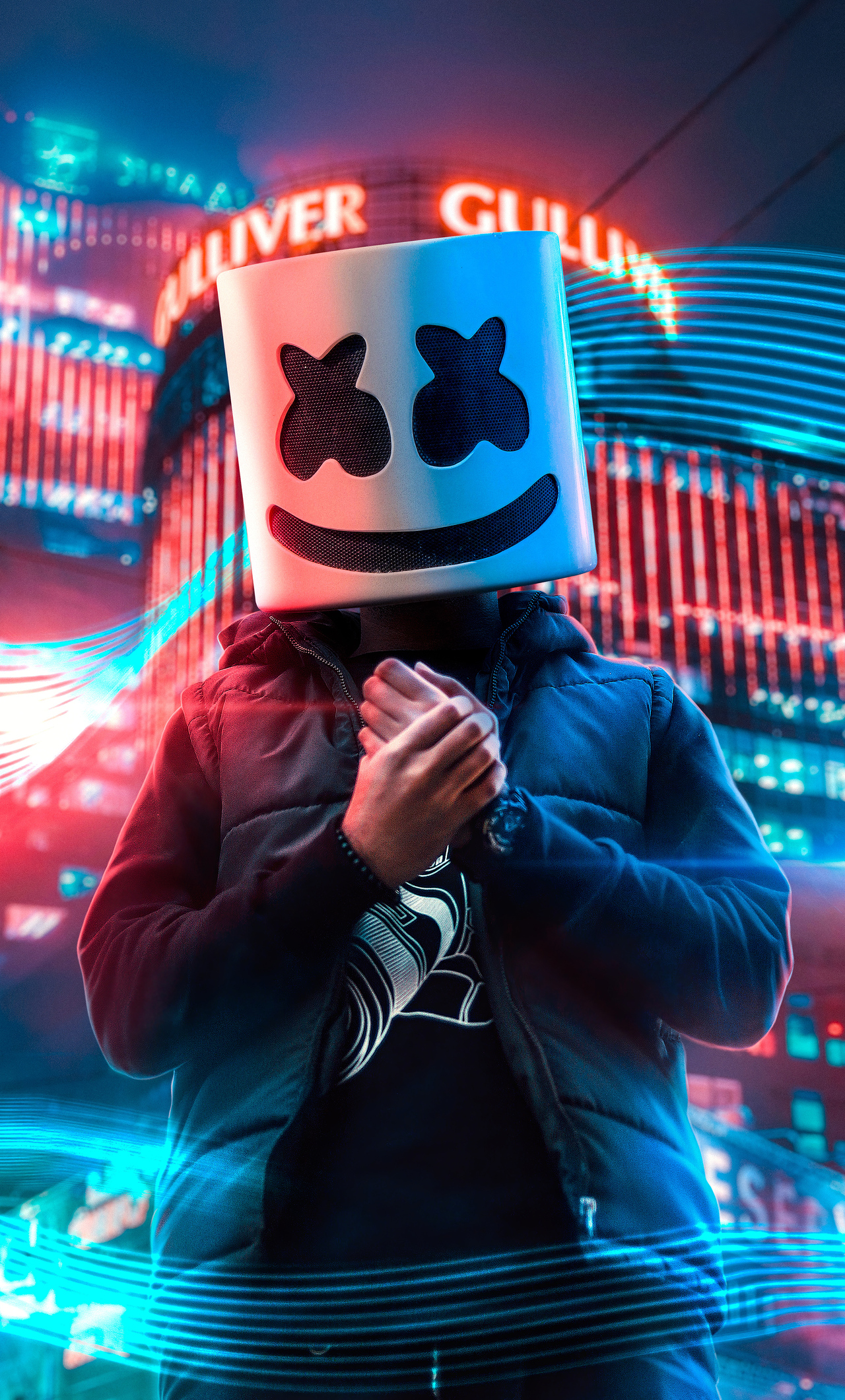 1280x2120 Marshmello Alone In City 4k iPhone 6+ HD 4k ...