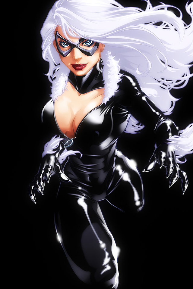 640x960 Marvel Girl Black Cat 4k Iphone 4 Iphone 4s Hd 4k Wallpapers Images Backgrounds Photos And Pictures