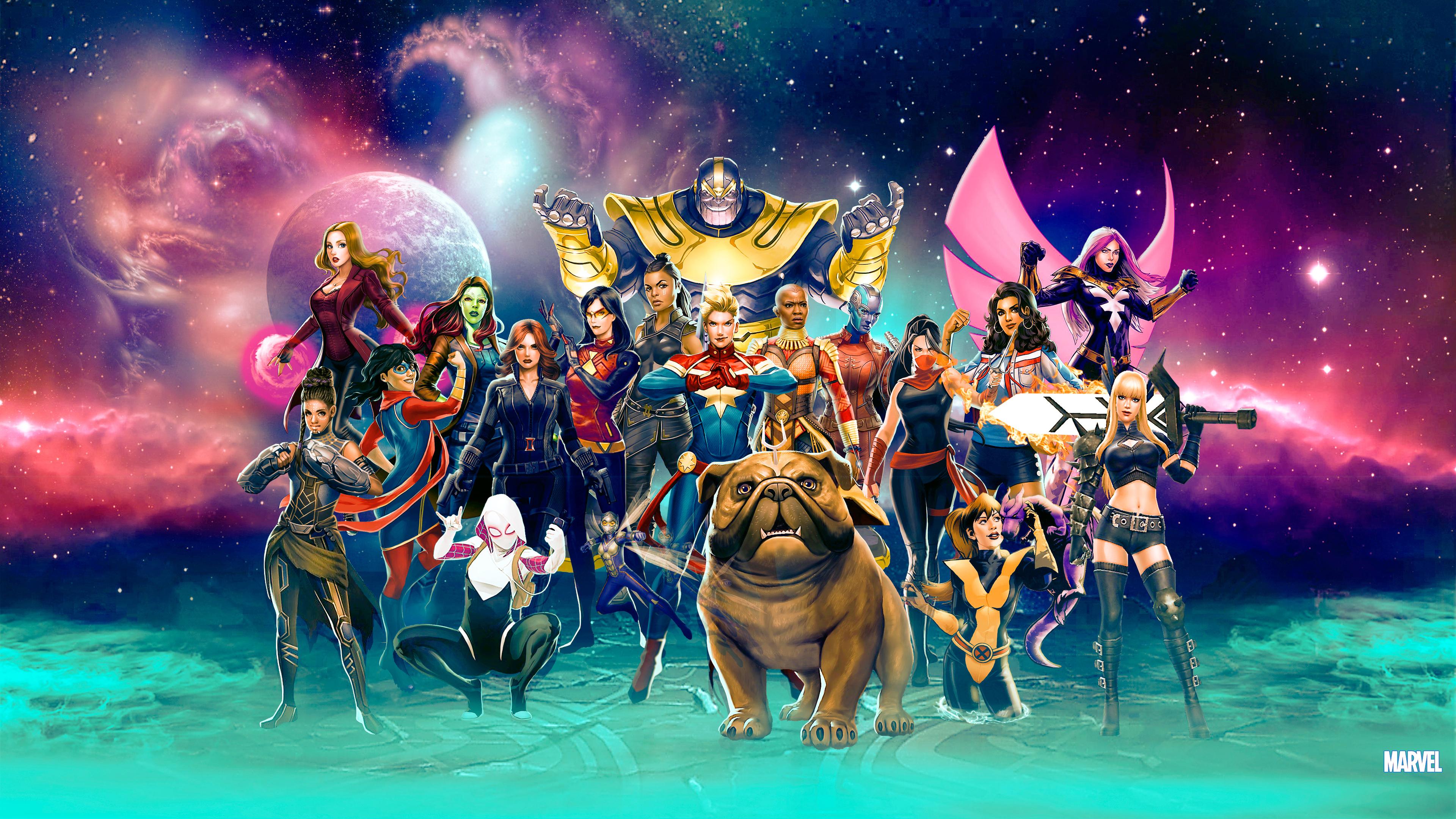 3840x2160 Marvel Girls Artwork 4k 4k HD 4k Wallpapers ...