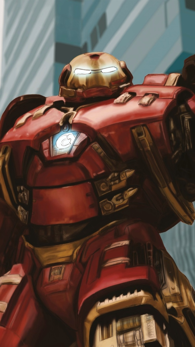 750x1334 Marvel Iron Hulkbuster Art Iphone 6 Iphone 6s Iphone 7 Hd