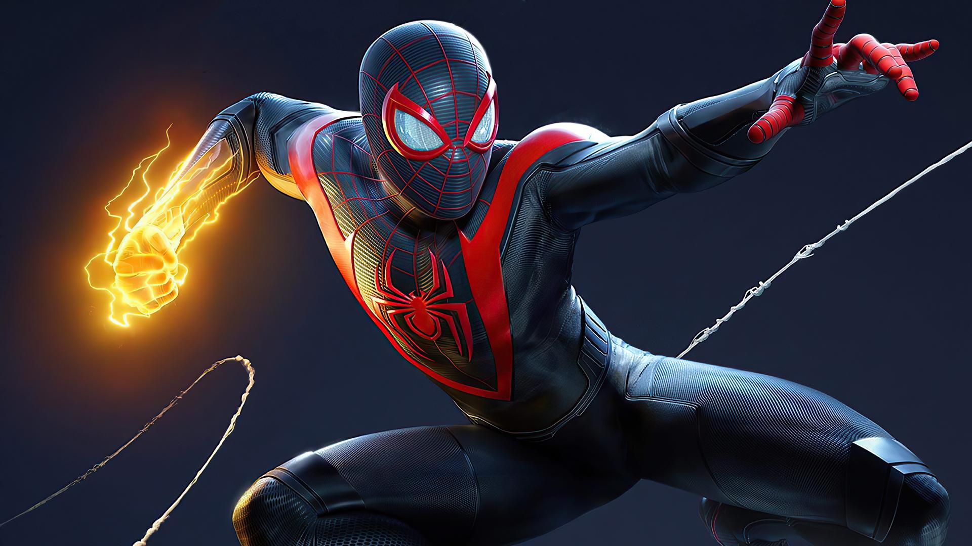 1920x1080 Marvel Spider Man Miles Morales Laptop Full HD ...