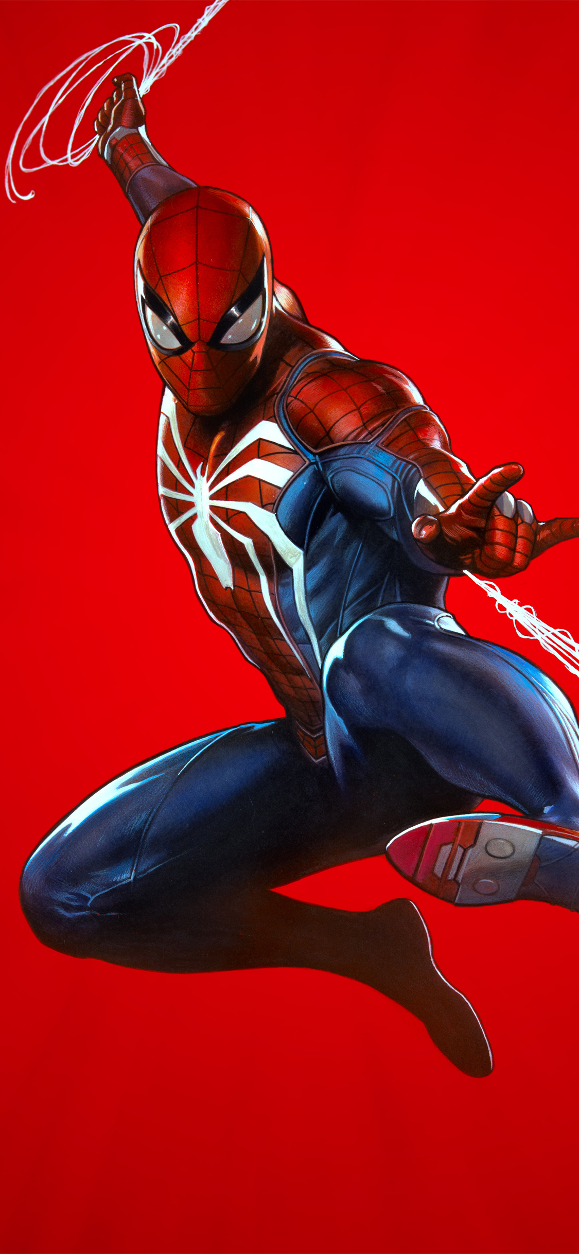 1125x2436 Marvels Spider Man Ps4 Theme Art 10k Iphone Xs Iphone 10