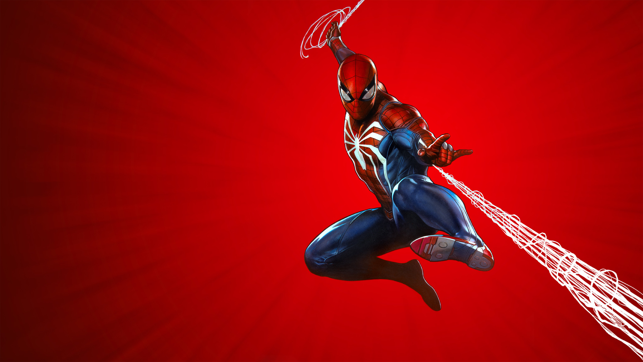 2048x1152 Marvels Spider Man Ps4 Theme Art 10k 2048x1152 Resolution
